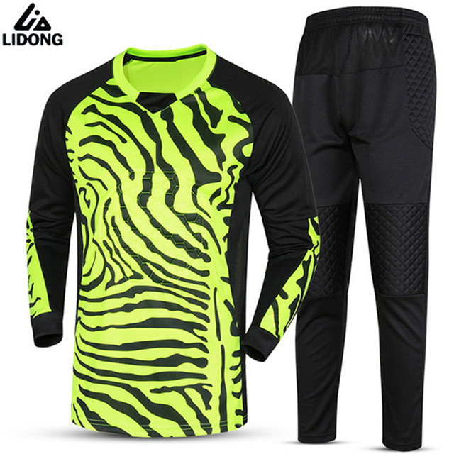 a4e65b2b1d7 Kids Child Boys Soccer Goalkeeper Jerseys Survetement Football Shirts  Goalkeeper Training Jersey Clothing Pants Suit Print Made