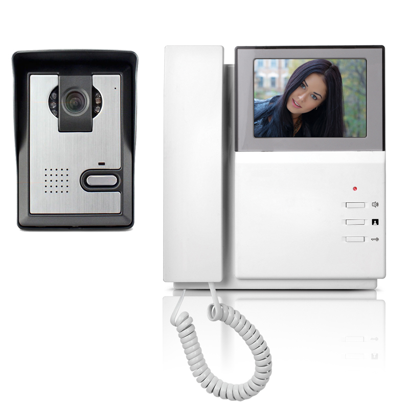 4.3 LCD Video Door Phone Intercom Doorbell System Kit Home Security Monitor IR Camera Door bell Intercom Doorphone jeatone 7 lcd monitor wired video intercom doorbell 1 camera 2 monitors video door phone bell kit for home security system