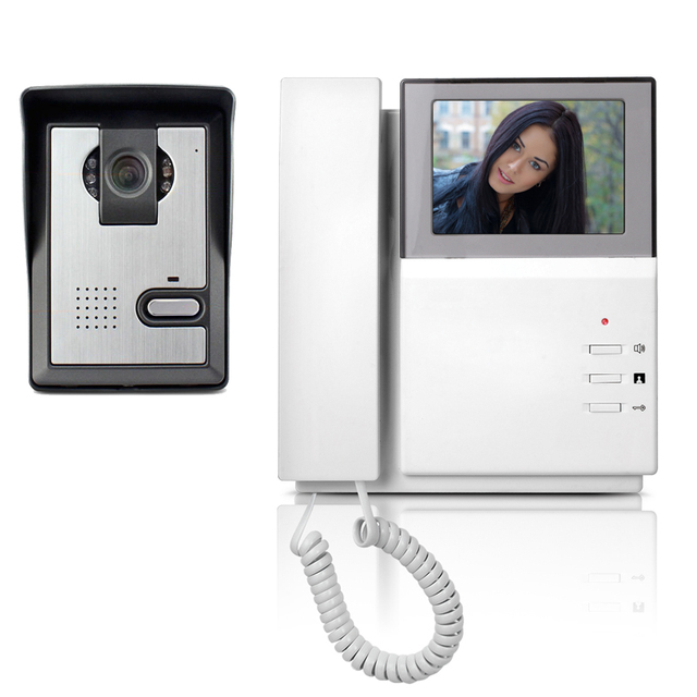 4 3 Quot Lcd Video Door Phone Intercom Doorbell System Kit
