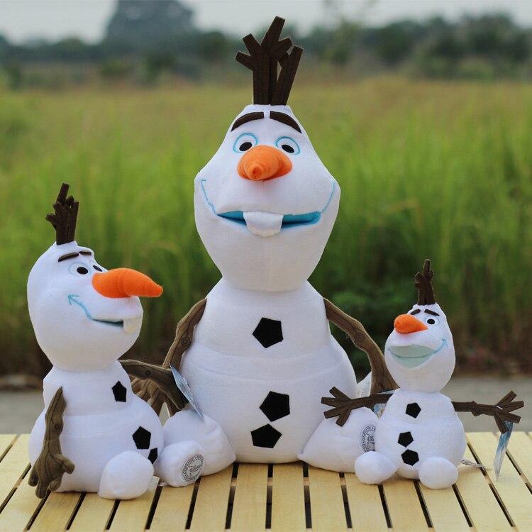 "DISNEY  LAUGHING OLAF FROZEN SNOWMAN TY BEANIE BUDDY 12/""  SOFT TOY 30CM"