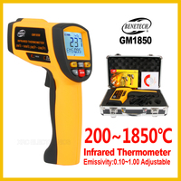 Portable Digital Handheld Gun Non Contact Infrared Thermometer Laser Pyrometer Industrial Temperature Gun GM1850 BENETECH