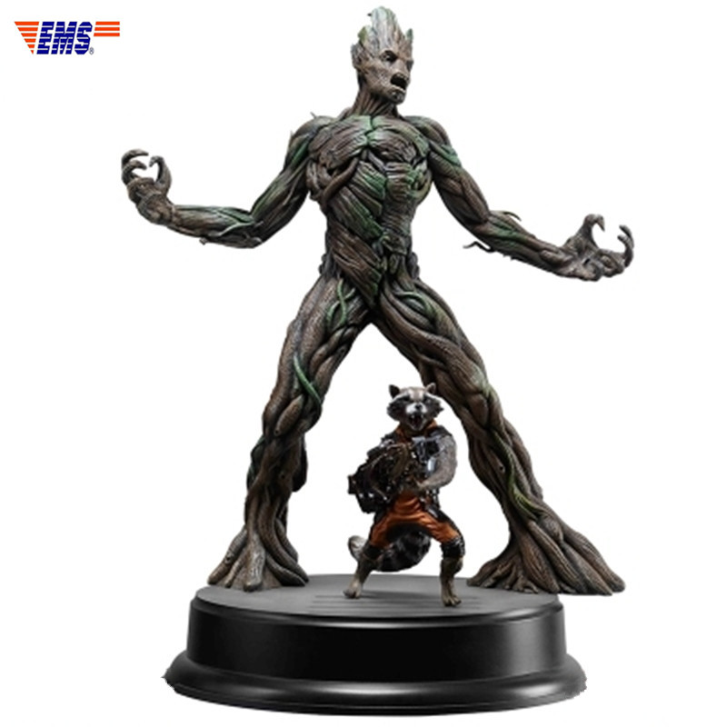 Мстители: Бесконечная война 1/9 стражи Галактики ракеты енота и Древень статуя фигурку Коллекция Модель игрушка X61