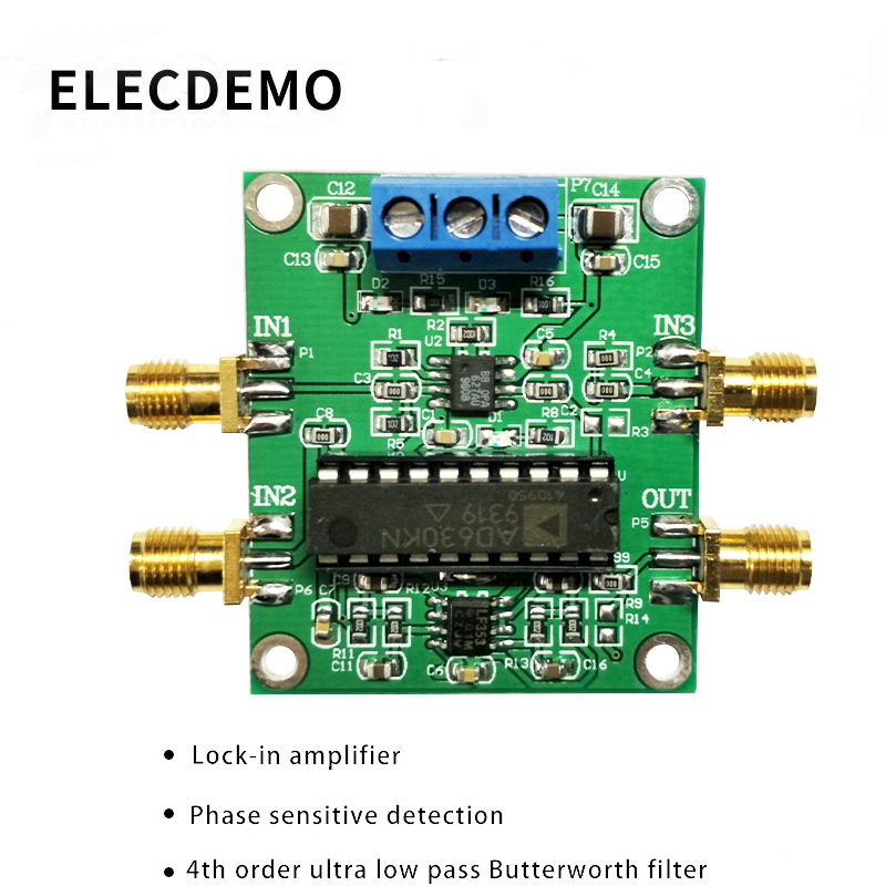 AD630 module Lock in amplifier module Minimum system Phase sensitive detection Weak signal conditioning Balanced modulation-in Demo Board Accessories from Computer & Office