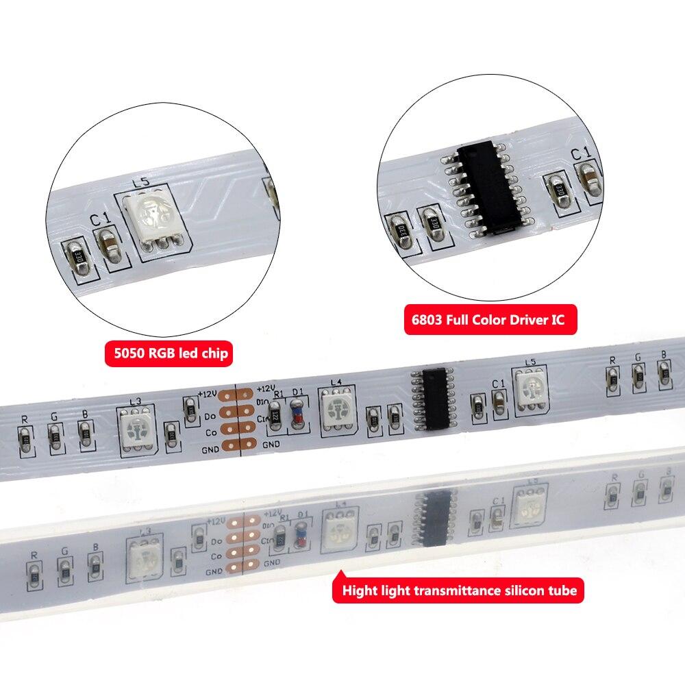 6803 IC Dream couleur RGB LED bande 5050 30 LED/m IP67 étanche 5 M + 133 programme RF contrôleur magique + adaptateur - 3