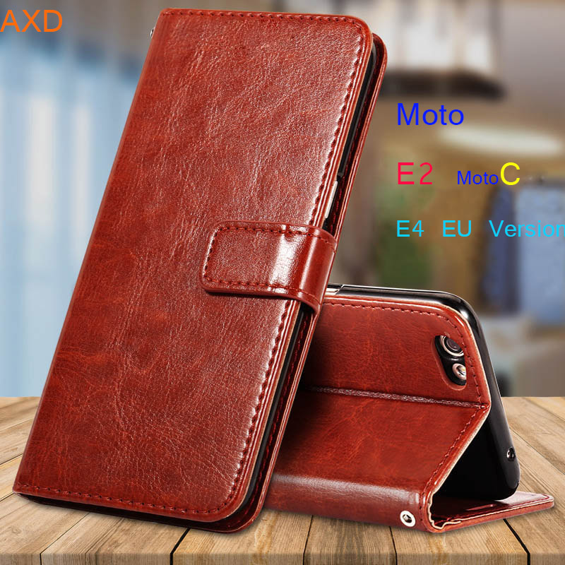 Coque Flip Cases For Moto E2 E 2 E2 E4 E 4 EU Version Cover Leather PU Cases For Motorola C XT1750 XT1754 Phone Case Fundas Capa
