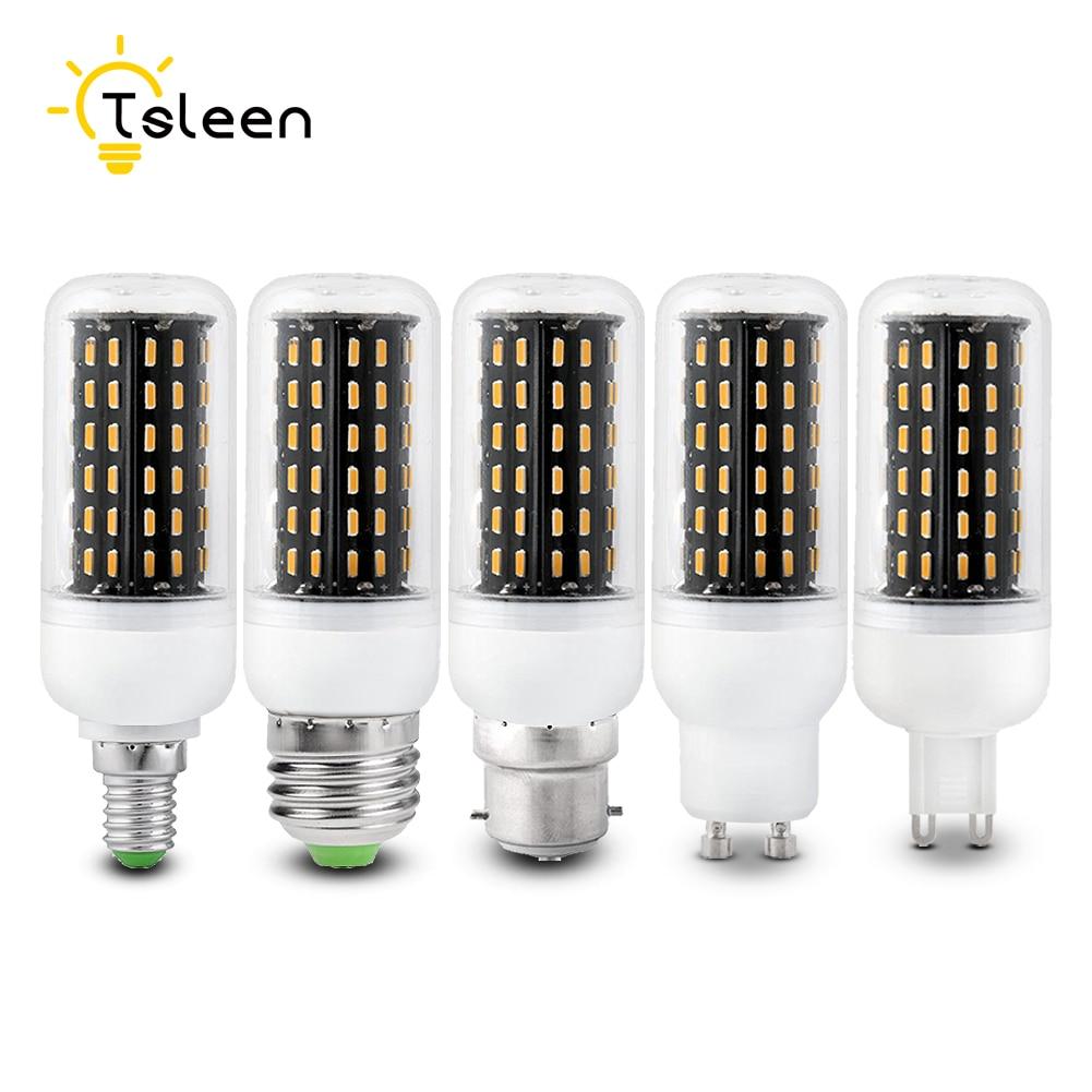 TSLEEN High Lumens 4014 SMD Energy Saving LED Corn Bulb E27 E14 220V LED Lamp Light B22 G9 GU10 12W 18W 25W 30W 35W Warm White cxhexin s10 12w gu10 12w 800lm 6000k 24 smd 5630 led white light bulb white silver ac 89 265v
