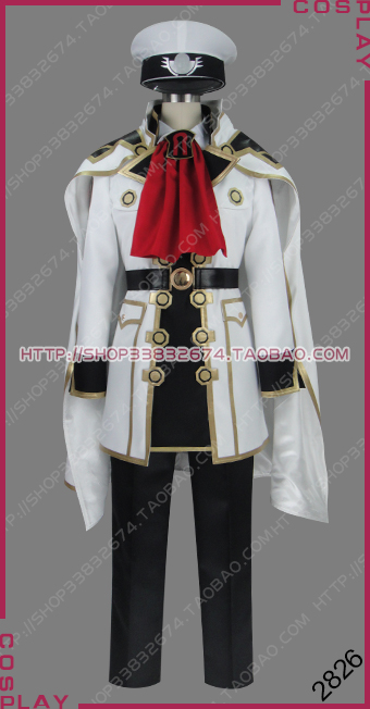 Final Fantasy Type-0 tigre blanc maréchal impérial Cid Aulstyne Milites Empire militaire uniforme Cosplay Costume S002