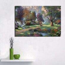 цена на Thomas Kinkade Paradise Canvas Painting Prints Living Room Home Decor Artwork Modern Wall Art Oil Painting Posters Pictures Art