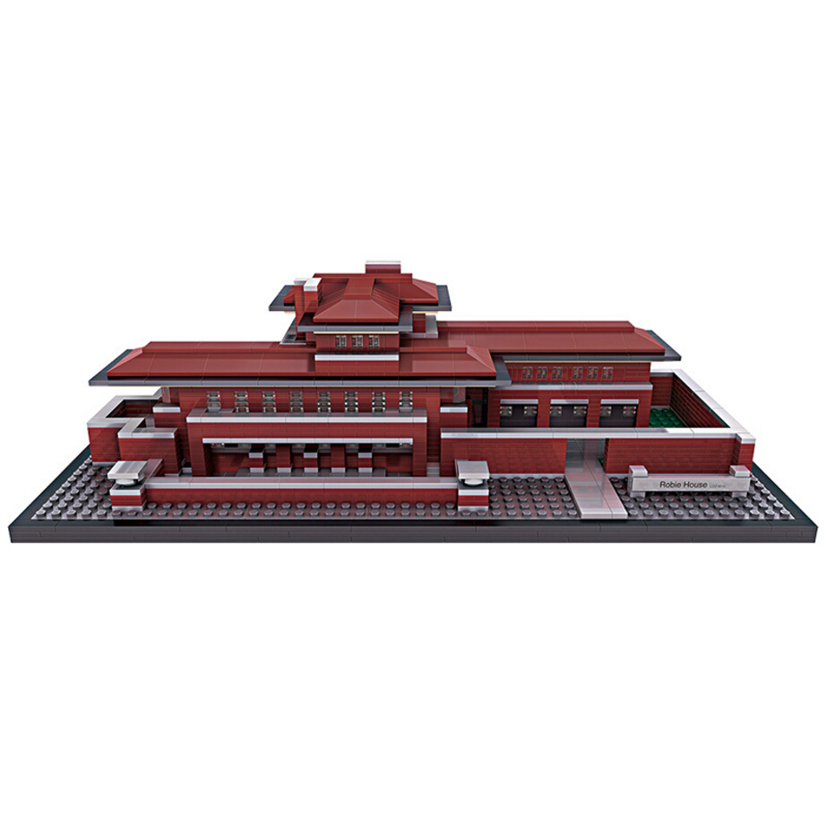 Compatible with Lego Architecture Series 21010 Lepin 17007 2326pcs The Robie House Set building blocks bricks toys for children kazi 608pcs pirates armada flagship building blocks brinquedos caribbean warship sets the black pearl compatible with bricks