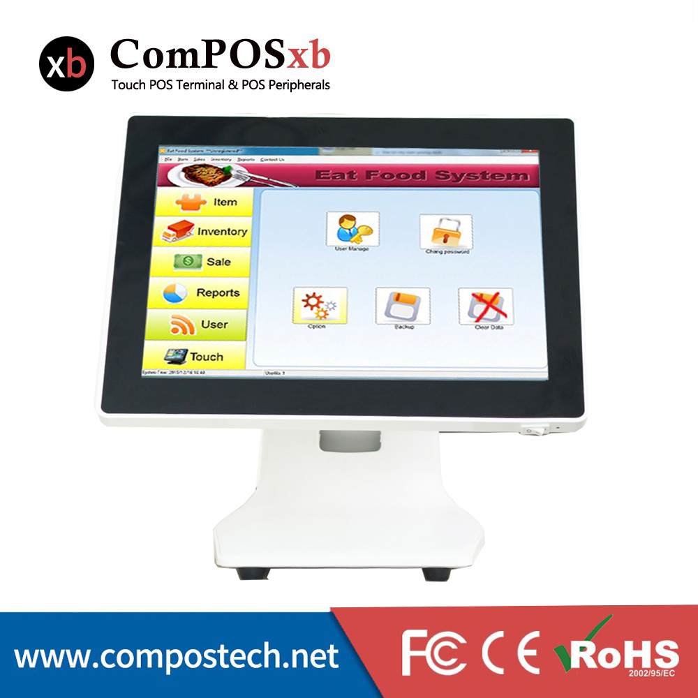 15 inch POS system Touch screen machine linux pos system csah register POS 1518
