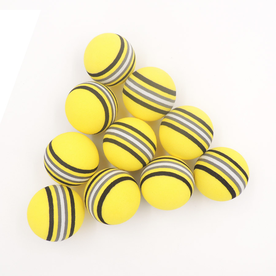 50PCS EVA Foam Golf Balls Yellow/Red/Blue  Rainbow Sponge Indoor Practice Training Aid Soft Golf Ball