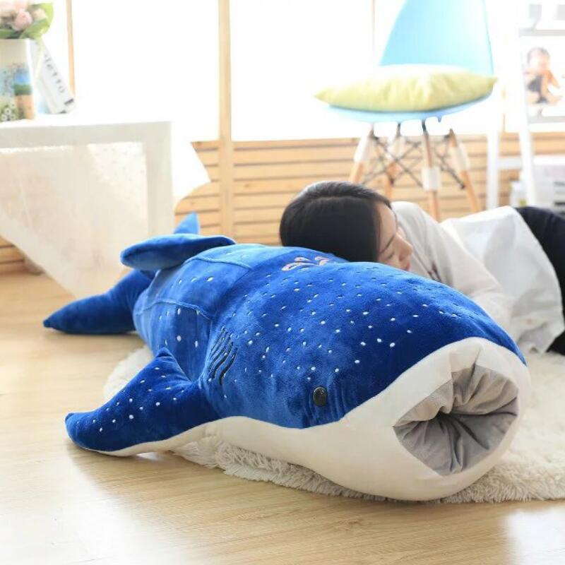 50/100cm New Style <font><b>Blue</b></font> Shark <font><b>Plush</b></font> Toys Big Fish Cloth doll <font><b>Whale</b></font> stuffed <font><b>plush</b></font> animals doll Children Birthday Gifts image