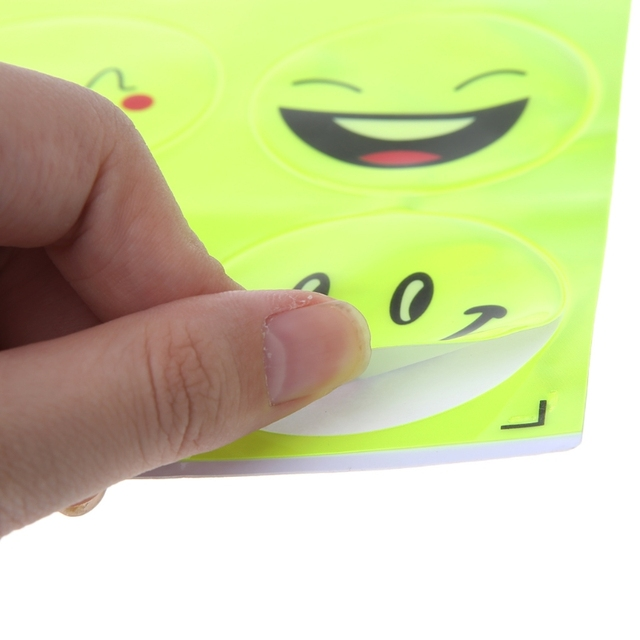 1 Sheet Funny Smiling Face Bicycle Bike Reflective Sticker  Night Riding Safety Sticker Decoration Bicycle Access 3