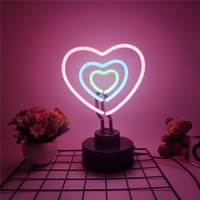 TONGER HEART table lamp neon light sign with switch night light