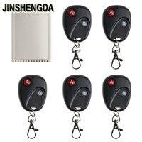 1 قطعة jinshengda dc12v 2ch لاسلكي للتحكم التبديل استقبال 5 الارسال لباب المرآب