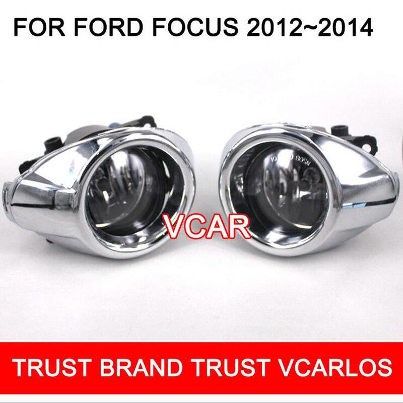 ФОТО Hireno Car Fog lights Lamp Cable Harness Halogen light switch control Set for Ford Focus 2012-14 2Pcs