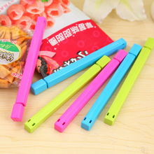 6pcs 15*2cm Small Food Snack Bag Storage Sealing Clips Seal Clamp Plastic Bags Ziplock Clip Food Storage Helper Color Random