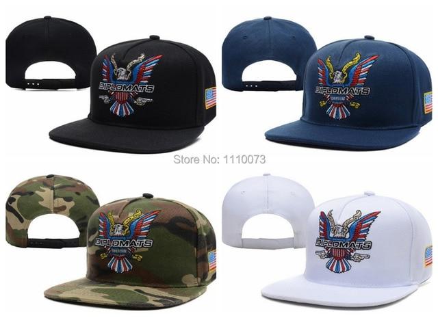 Dipset U-S-A Diplomats Eagle Logo camo Snapback hats outdoor travel women s  men s gorras bones baseball caps freeshipping 6d812b243d0