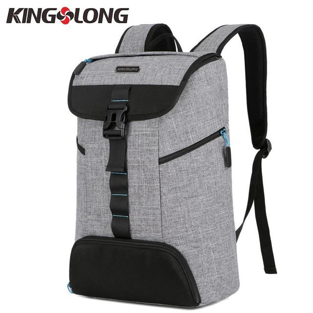 e755a568601 KINGSLONG Casual Men Backpacks Bags for Shoes Waterproof 15.6