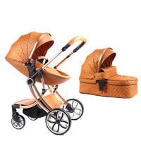 Voondo  High landscape stroller can sit reclining folding light two way four wheel shock absorption|Four Wheels Stroller| |  -