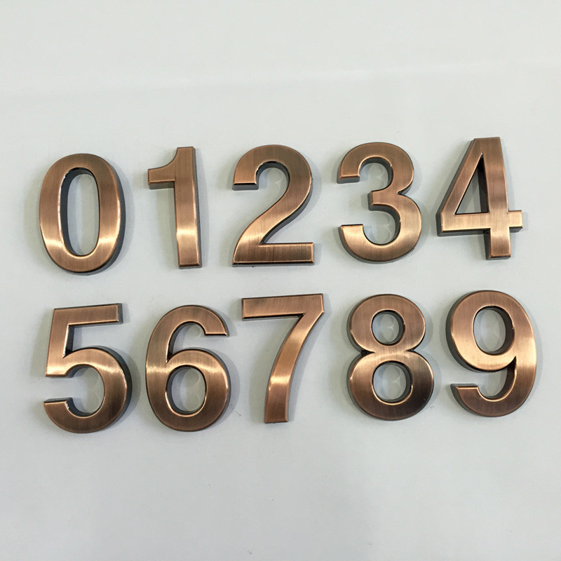 z 1 ... - 1PCS 0 9 Antique Drawing House Numbers 70*48*8mm Plastic ABS Hotel