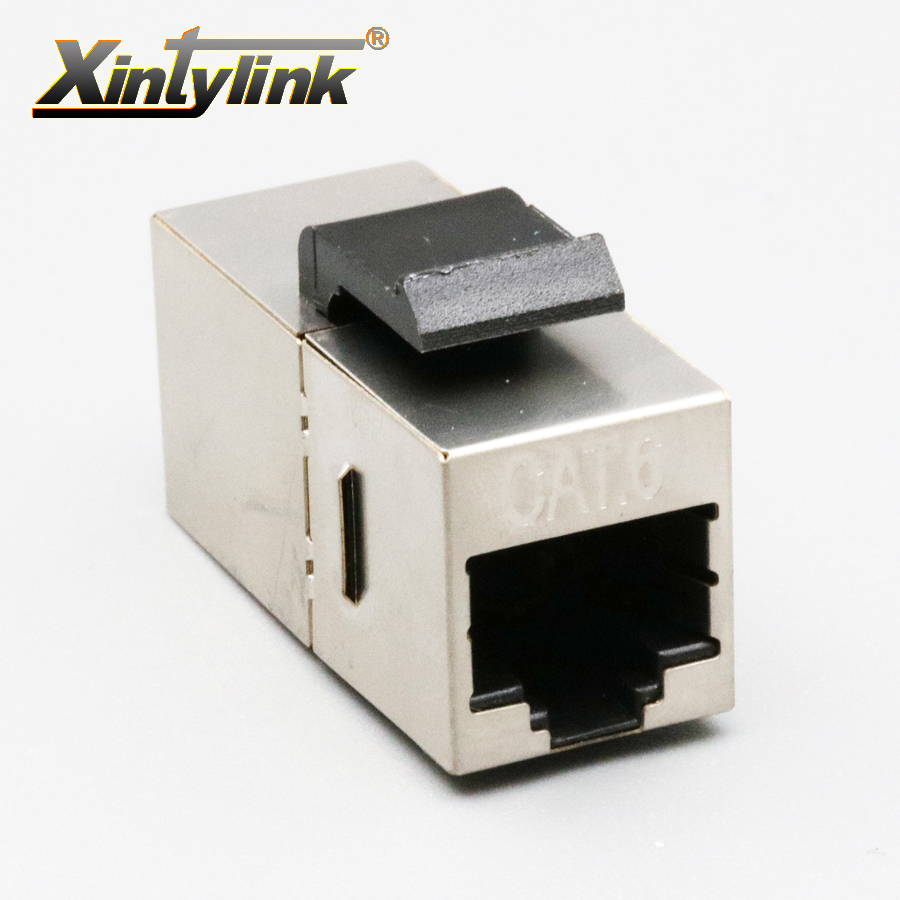 xintylink rj45 connector cat6 modular keystone shielded adaptor double head network Extension connector for stp ethernet cable large 24x24 cm simulation white cat with yellow head cat model lifelike big head squatting cat model decoration t187