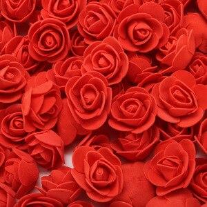 Image 3 - Conjunto de rosas, 500 peças de 3.5cm, cabeças de flores de espuma artificial, molde de urso de pelúcia, diy 20cm, acessórios de urso presente do dia dos namorados de decoração