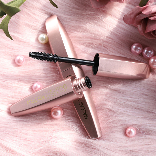 Silicone Brush Head Mascara Eyelash Makeup Black Lengthening Curling Thick Eye Lashes Extension Waterproof Mascara