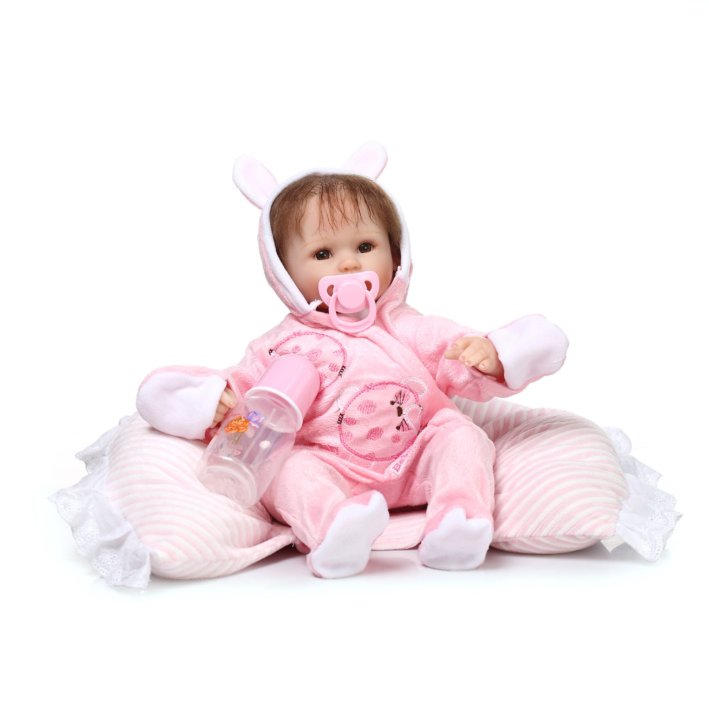 40cm NPKCOLLECTION New silicone reborn baby doll toy for girls play house toys for kid soft vinyl newborn girl babies dolls npkcollection 40cm silicone reborn baby doll toy lifelike play house bedtime toys gift for kid lovely newborn girls babies dolls