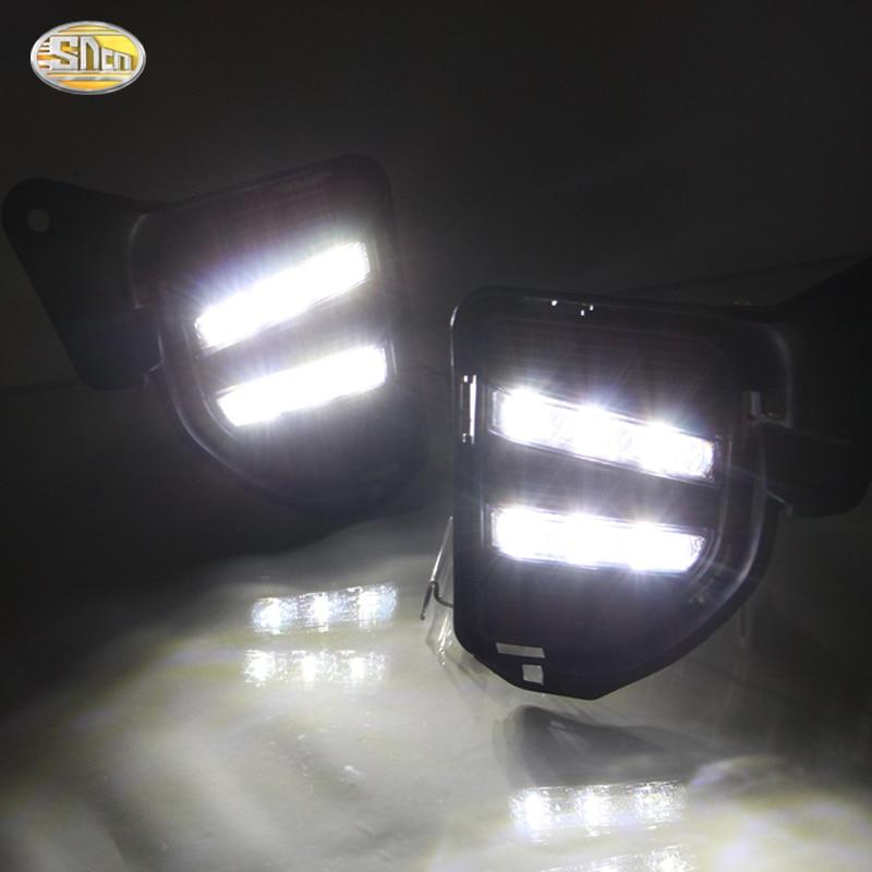 SNCN дневные ходовые огни для Тойота Hiace 2015 2016 2014 СИД DRL передняя противотуманная крышка лампы дальнего света белый / желтый свет
