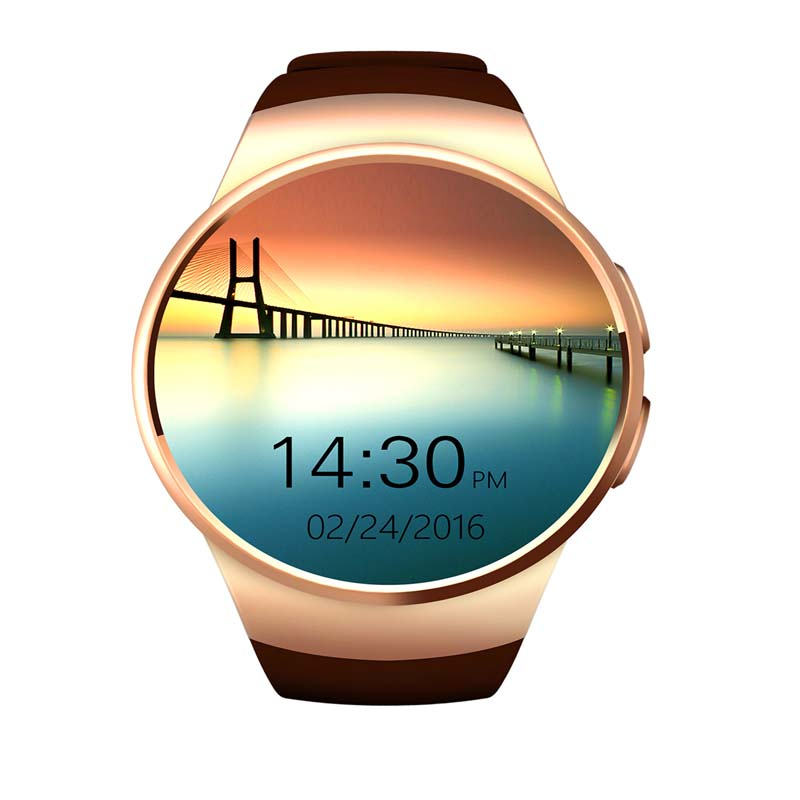 ФОТО 2017 KW18 Bluetooth Smart Watch Phone For IOS Android Heart Rate Reloj Smartwatch With Sim And TF Card Anti-lost alert Camera