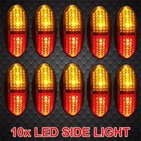 10 pcs 12V 24V Car Led Bar Car Accessories Side Front Rear Marker Light Truck Side Light Car Side Light Heavy Car LED Top Light