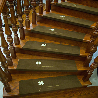 Luminous Self Adhesive Stair Floor Carpet Non Slip Staircase Mats Clover  Pattern Floor Rugs Protector Mat For Home Textile