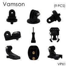 Vamson Gopro Aksesuarları için Hareket kamera tripodu vida tripod adaptörü Için 1/4 vida Gopro 6 5 4 3 + 3 xiaomi SJCAM VPX1