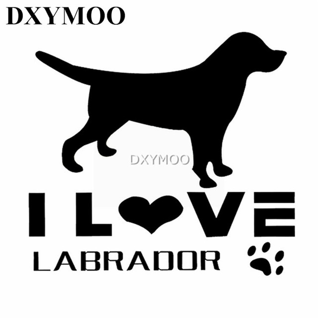 I love labrador car sticker decal bumpers animal pet dog whole body window auto suv door