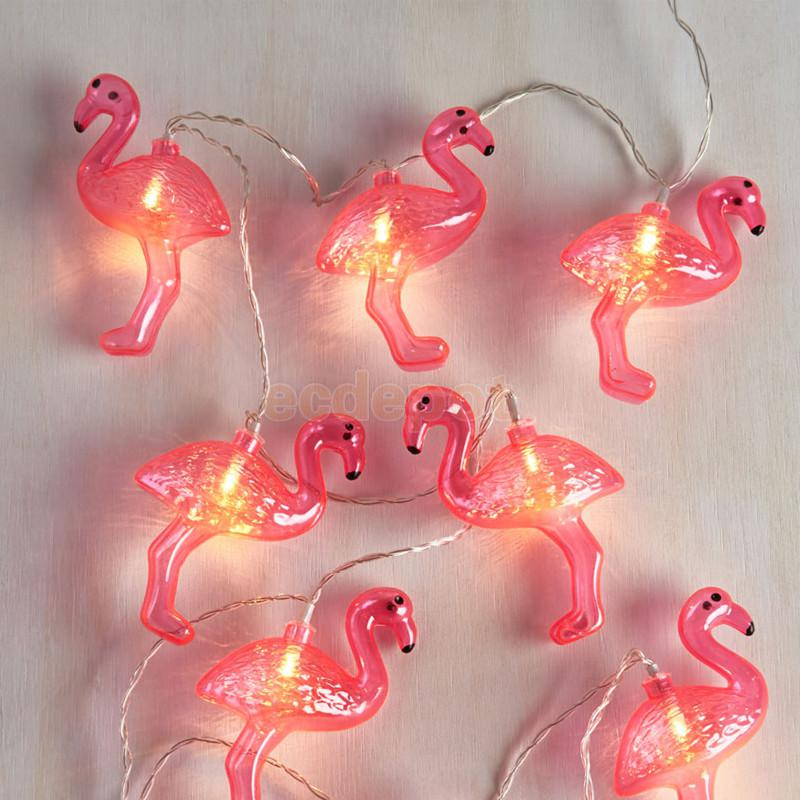red flamingo led swan shape bulbs string light battery opetated home party decor party. Black Bedroom Furniture Sets. Home Design Ideas