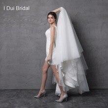 Свадебное платье со съемной юбкой, кружевной наряд с иллюзией, двустороннее короткое платье от производителя
