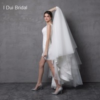 Wedding Dress with Detachable Skirt Illusion Lace Back Two Way Long Short Factory Custom Make Vestidos Casamento