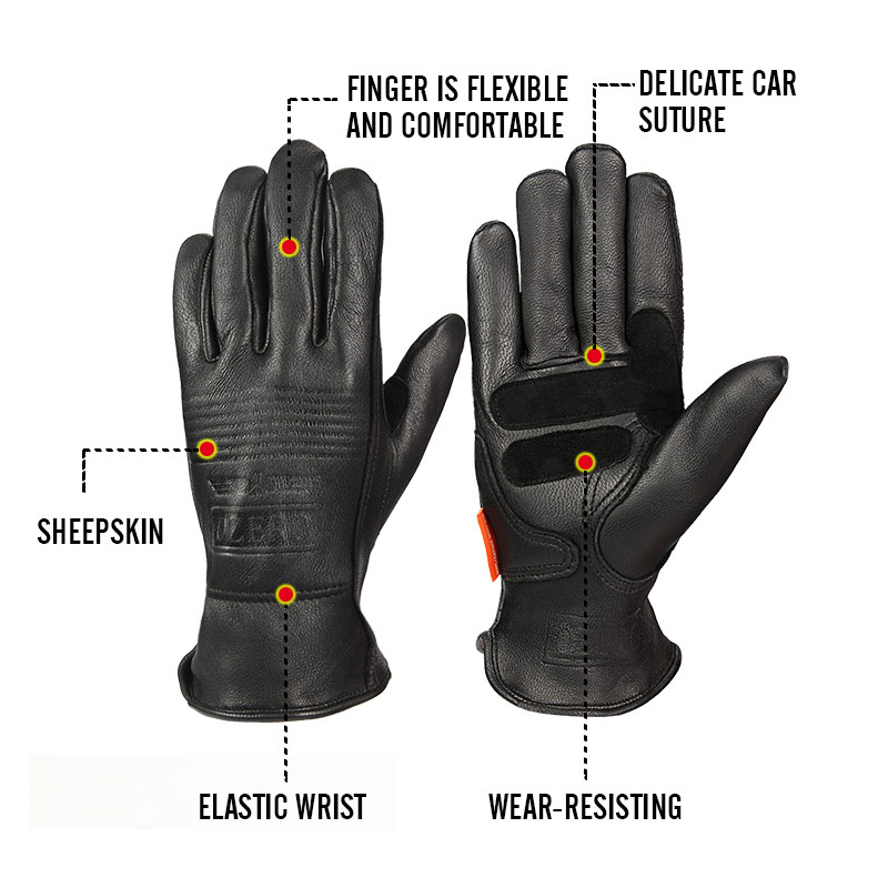 OZERO Safety Gloves Working Hand-type Gloves Protective Welding Garden Antistatic Fishing Gloves Leather Work Gloves For Men 009