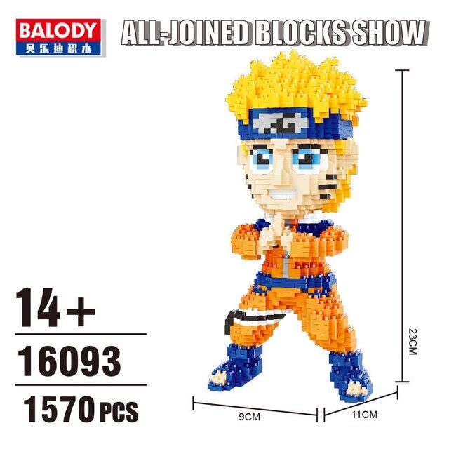 Balody Mini Blocks Naruto Auction Figure Cartoon Model Building Bricks for Children Funny Toys Anime Kakashi Xmas Gift 16093
