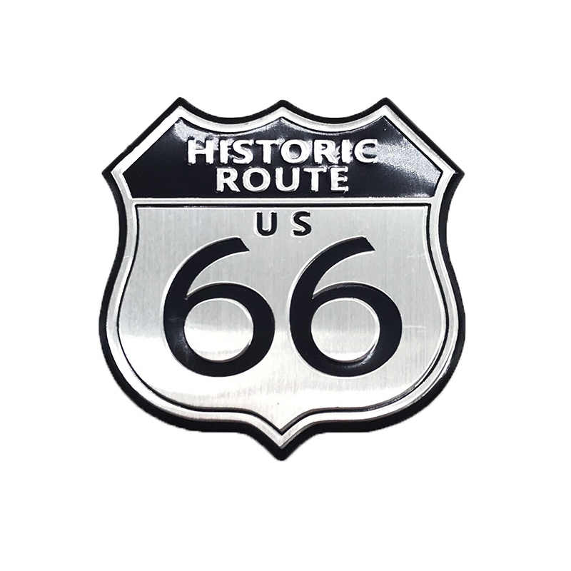 3D Motorcycle HISTORIC ROUTE 66 ROAD Embleem Badge SRX Sticker Decal Classic Road Accessoire for Suzuki KTM Yamaha BMW Cadillac
