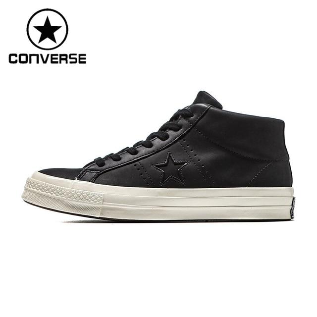 Men Leather Converse Black Sneakers