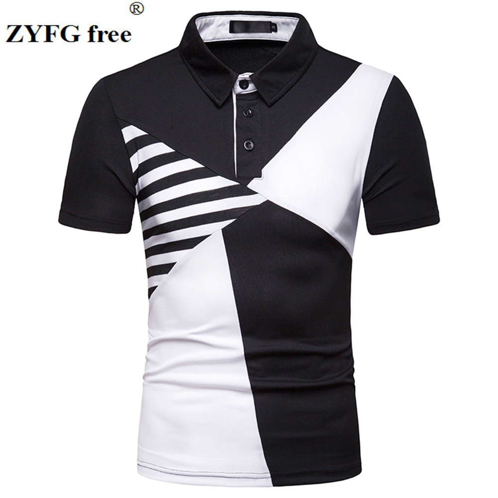 Fashion men   polo   shirt short sleeved turn-down collar casual cotton blend polyester   polo   shirts simple breathable Tops