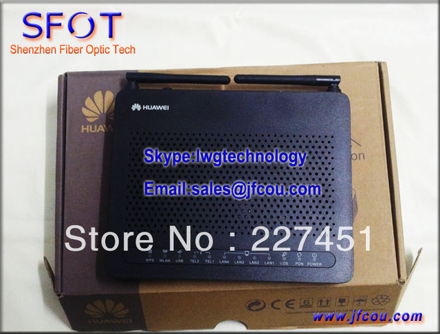 Englsih HG8245R ONU Echolife GPON Terminal aplica a FTTH ONT, 4 LAN + 2 OLLAS $ number USB + WiFi. soporte para el Protocolo SIP.