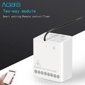 Image 2 - Aqara Módulo de dos vías, controlador inalámbrico de Motor de CA de doble canales para casa inteligente, nuevo