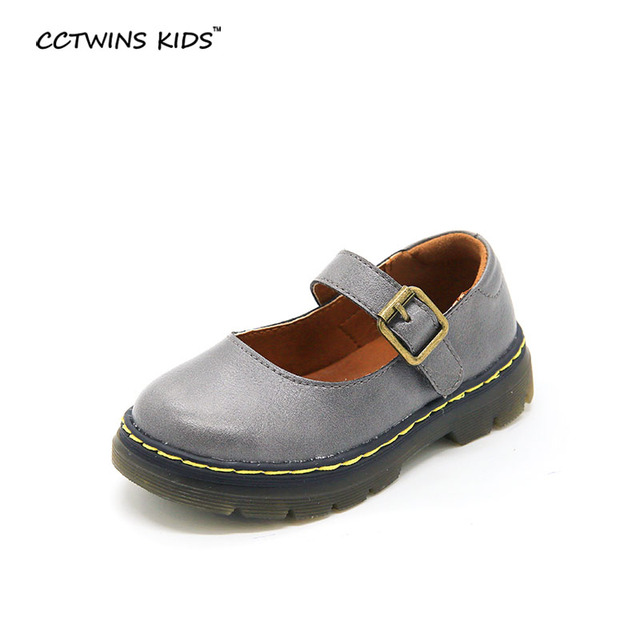 CCTWINS KIDS spring autumn children pu leather shoes platform for toddler brand gray flats baby girl fashion shoe red