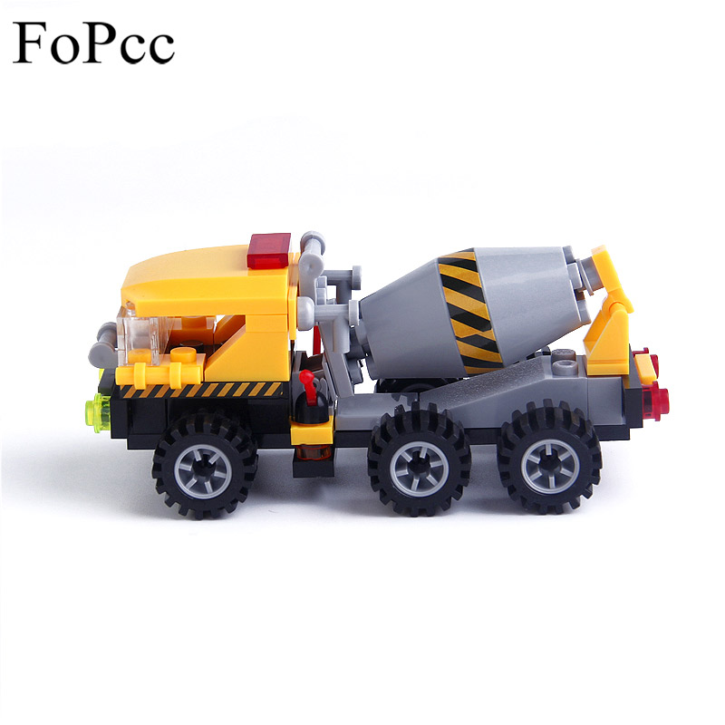 69Pcs Churn Car Blender Playmobil Car City Engineering Construction Building Blocks Action Figure Kids Toys Legoings