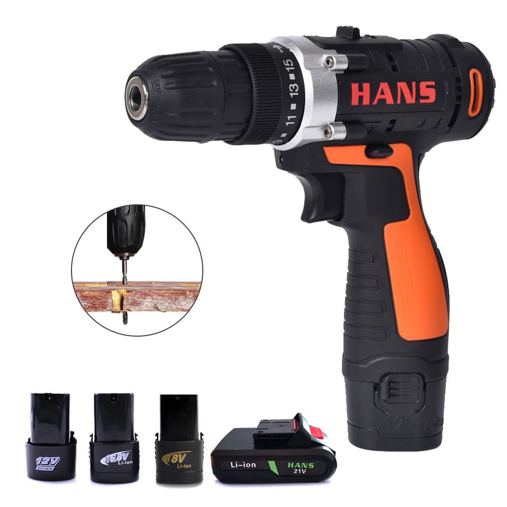 Hand Drill 12V ED02 Cordless Electric Impact Power Drills Battery Screwdriver Rotary Tools For Woodworking Parafusadeira Taladro