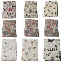 150x100 см винтажная ретро ткань с принтом в виде бабочек, кошек и роз, хлопковая льняная скатерть, занавески, льняные ткани, домашний текстиль