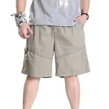 Марка Мужчины Повседневная Бегунов Одежды мужчины Хип-Хоп Свободные Жира Штаны Военных Грузов Шорты Плюс Размер XXXL 5XL 6XL